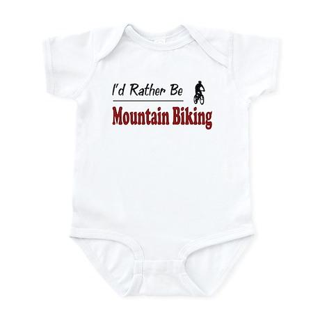 Rather Be Mountain Biking Infant Bodysuit