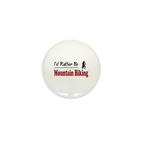 Rather Be Mountain Biking Mini Button (10 pack)