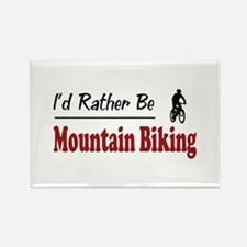 Rather Be Mountain Biking Rectangle Magnet