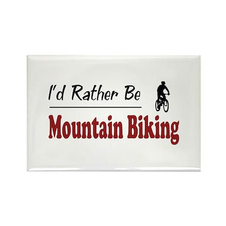 Rather Be Mountain Biking Rectangle Magnet (10 pac