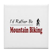 Rather Be Mountain Biking Tile Coaster