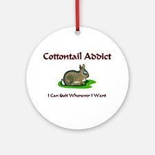 Cottontail Addict Ornament (Round)