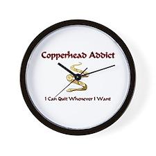 Copperhead Addict Wall Clock