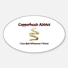 Copperhead Addict Oval Decal