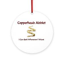 Copperhead Addict Ornament (Round)