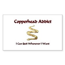 Copperhead Addict Rectangle Decal