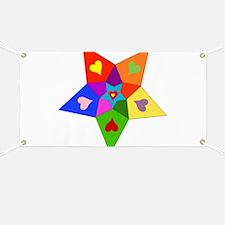 Rainbow Hearts Star Banner