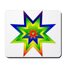 Rainbow Star Mousepad