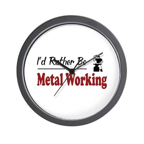Rather Be Metal Working Wall Clock
