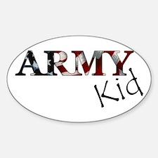 Army Kid (Flag) Oval Decal