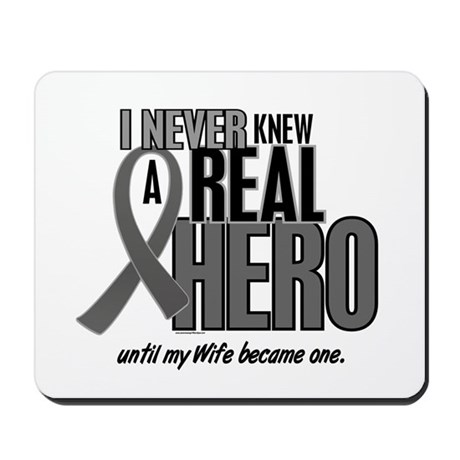 Never Knew A Hero 2 Grey (Wife) Mousepad