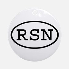 RSN Oval Ornament (Round)