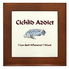 Cichlid Addict Framed Tile