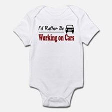 Rather Be Working on Cars Infant Bodysuit