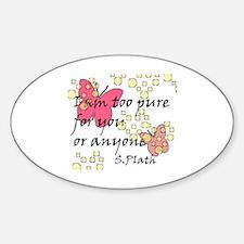 Plath Sticker (Oval)