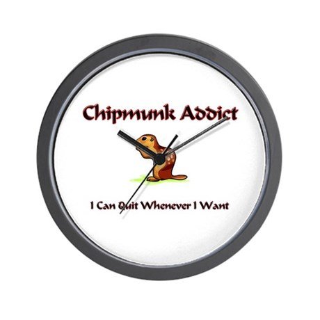 Chipmunk Addict Wall Clock
