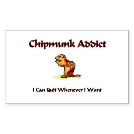 Chipmunk Addict Rectangle Sticker
