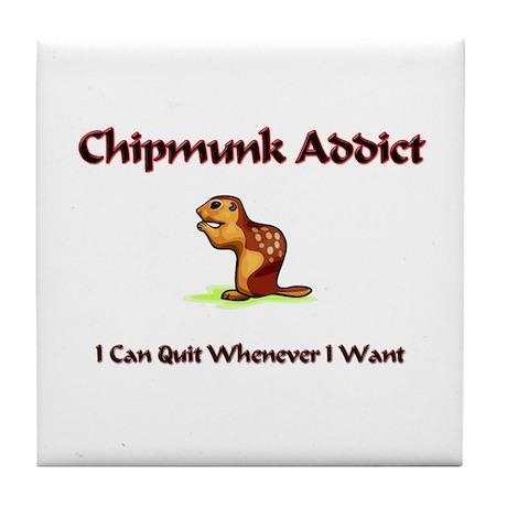 Chipmunk Addict Tile Coaster