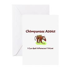 Chimpanzee Addict Greeting Cards (Pk of 10)