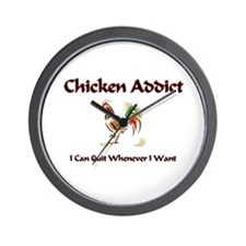 Chicken Addict Wall Clock