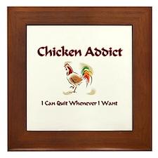 Chicken Addict Framed Tile