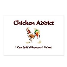 Chicken Addict Postcards (Package of 8)