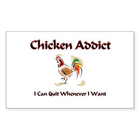 Chicken Addict Rectangle Sticker