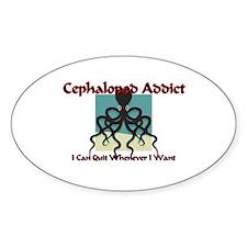Cephalopod Addict Oval Decal