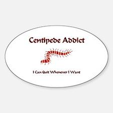 Centipede Addict Oval Decal