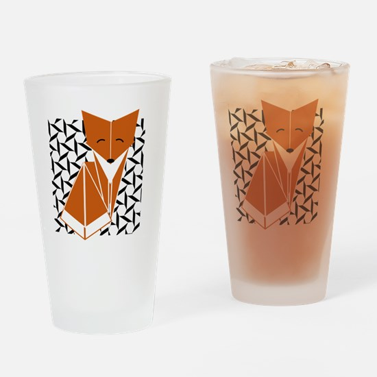 Funny Cute fox Drinking Glass