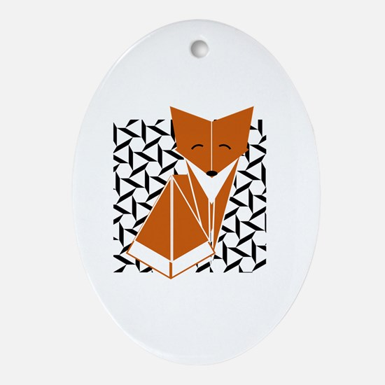 Cute fox Oval Ornament