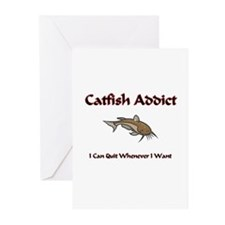 Catfish Addict Greeting Cards (Pk of 10)