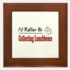Rather Be Collecting Lunchboxes Framed Tile