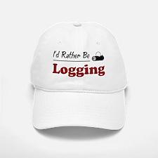 Rather Be Logging Baseball Baseball Cap