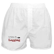 Rather Be Logging Boxer Shorts