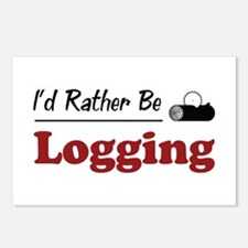 Rather Be Logging Postcards (Package of 8)
