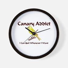 Canary Addict Wall Clock