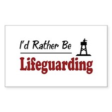 Rather Be Lifeguarding Rectangle Decal
