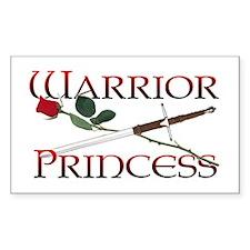 Warrior Princess Rectangle Decal