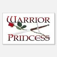 Warrior Princess Rectangle Decal