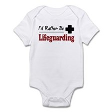 Rather Be Lifeguarding Infant Bodysuit
