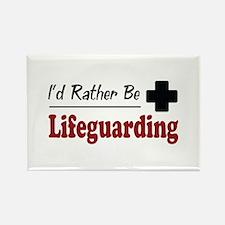 Rather Be Lifeguarding Rectangle Magnet