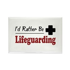 Rather Be Lifeguarding Rectangle Magnet (10 pack)