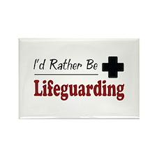 Rather Be Lifeguarding Rectangle Magnet (100 pack)