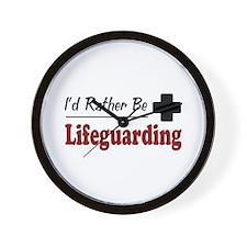 Rather Be Lifeguarding Wall Clock