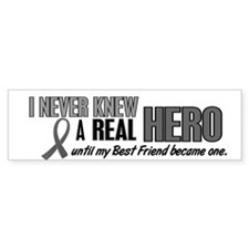 Never Knew A Hero 2 Grey (Best Friend) Bumper Sticker