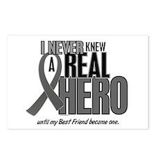 Never Knew A Hero 2 Grey (Best Friend) Postcards (