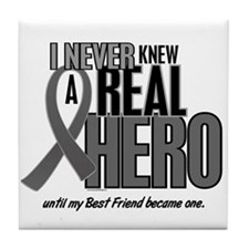 Never Knew A Hero 2 Grey (Best Friend) Tile Coaste