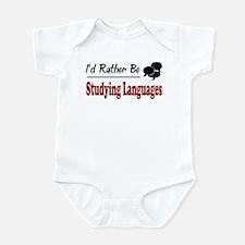 Rather Be Studying Languages Infant Bodysuit