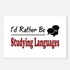 Rather Be Studying Languages Postcards (Package of